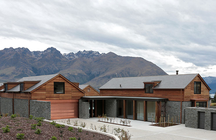 Timber has used extensively throughout this beautiful Queenstown home