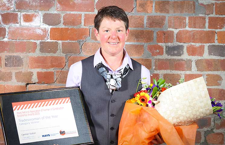 Carmen Sutton was the deserved winner of the Hays NAWIC Tradeswoman of the Year award.
